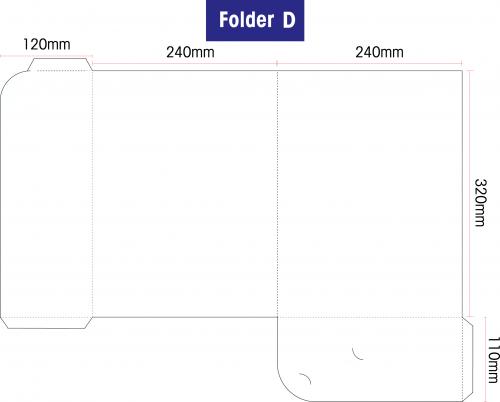 Folder D: Standard 310gsm Artcard